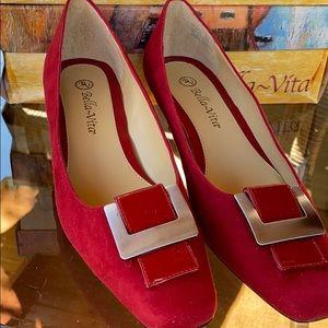"""Bella Vita """"Sophisticate"""" in Red Suede"""